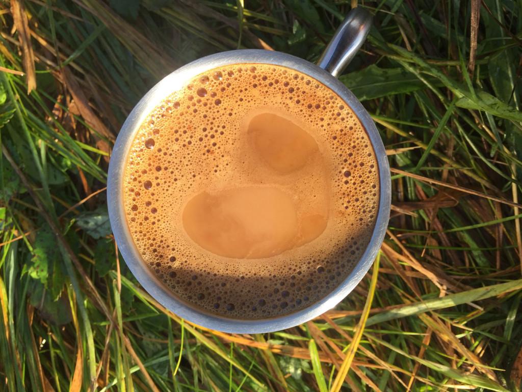 Kaffee auf dem Campingplatz Lübz