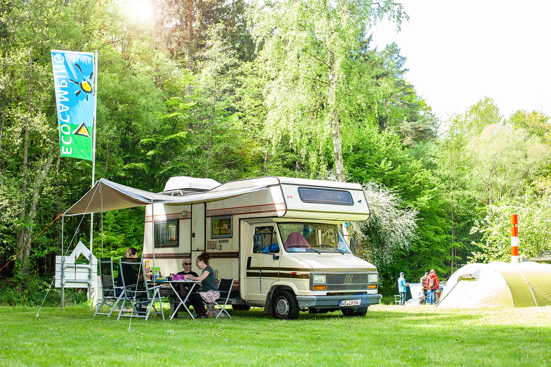 Fiat Wohnmobil Campingplatz